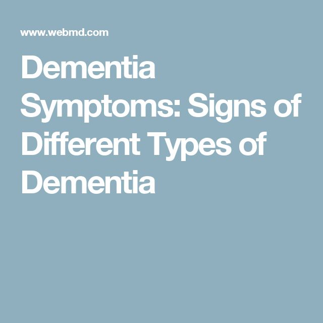 Dementia Symptoms: Signs of Different Types of Dementia #Typesofdementia