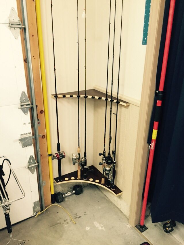 Fishing Pole rack from left over cabinet lumber