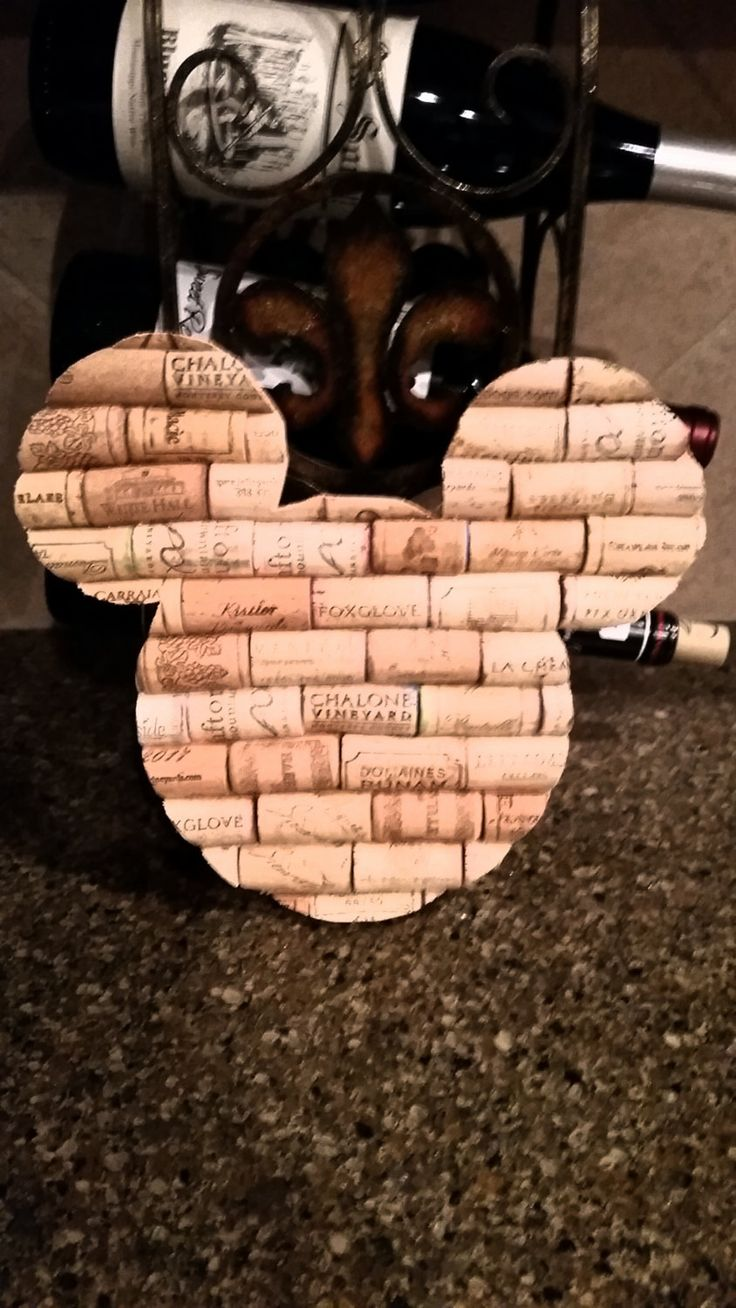 Mickey Mouse Ears - Natural UNPAINTED Wine Cork in the shape of Mickey Mouse Ears by StateofWine on Etsy