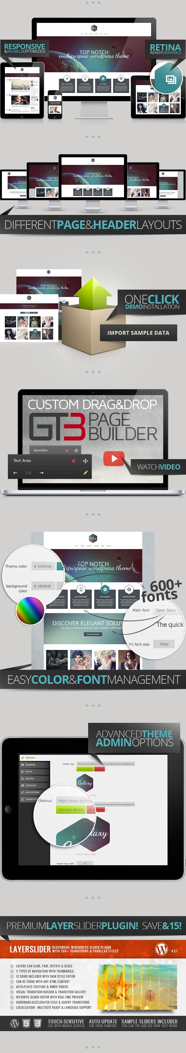 Galaxy Responsive Portfolio Wordpress Theme (Portfolio) - PROFIREFOX