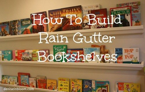 Homeschool Room Rain Gutter Bookshelves