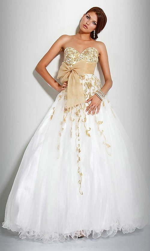 Cheap Free Shipping Ball Gown Sweetheart Floor Length Organza Prom Dresses 2013 at Weddingdressunion.com