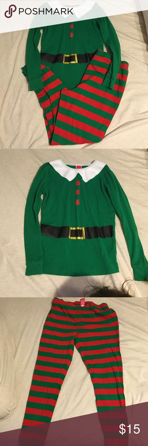 ELF Pajamas Pre-loved ELF pajamas for the Holidays! The top is a size 10 and the bottoms are a small. Target Pajamas Pajama Sets