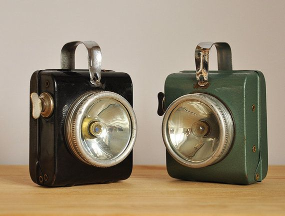 Vintage bicycle lamp...bike lighting1980s.....great for showcase by efans, $45.00
