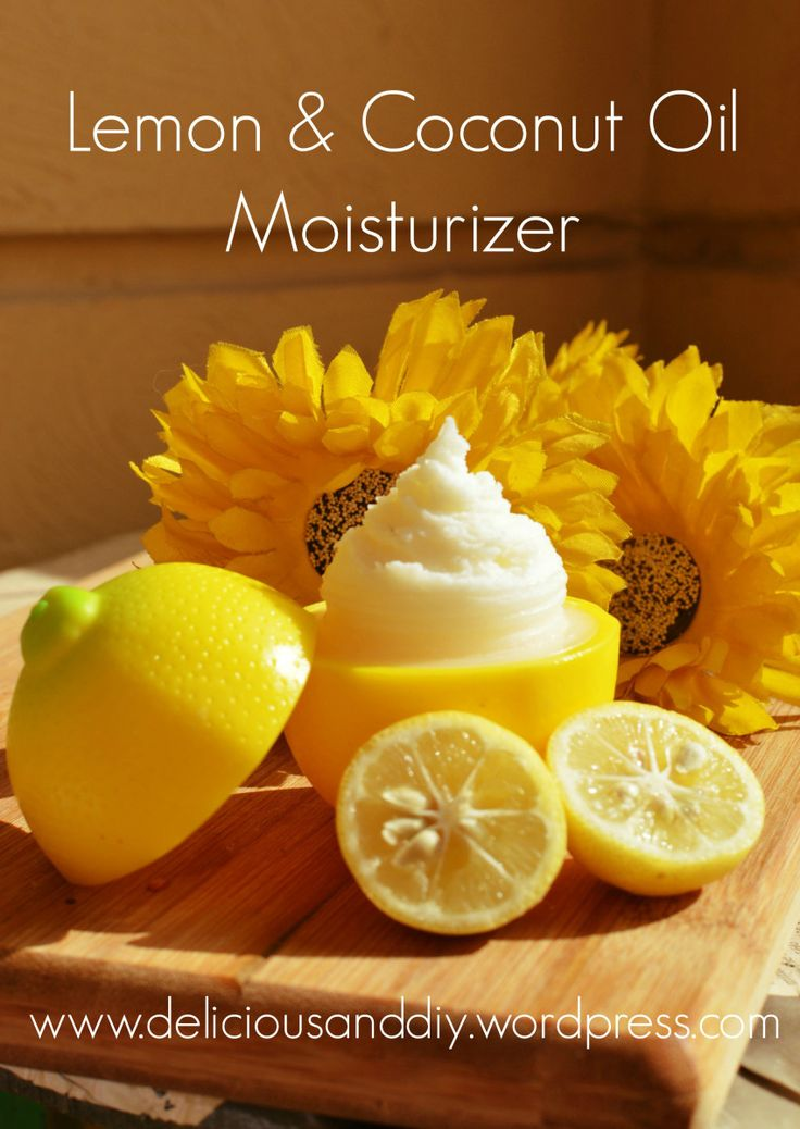 DIY Lemon Coconut Oil Moisturizer . smells amazing too and without chemicals . diy beauty recipe