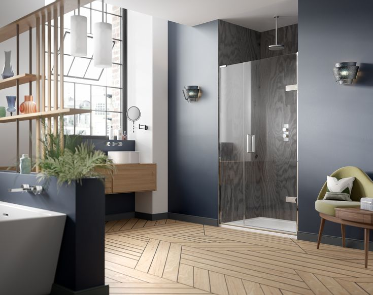 Minimal Wall Profiles Solid Brass Hardware And A Pared Down Handle Design Create A Look Of Complete Refinement The M Shower Doors Room Set Shower Enclosure