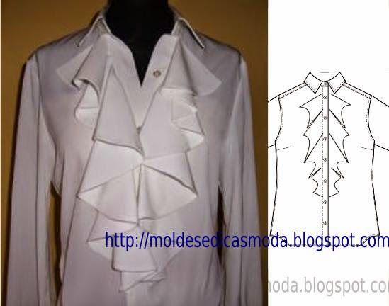 Moldes Moda por Medida: CAMISA COM FOLHOS