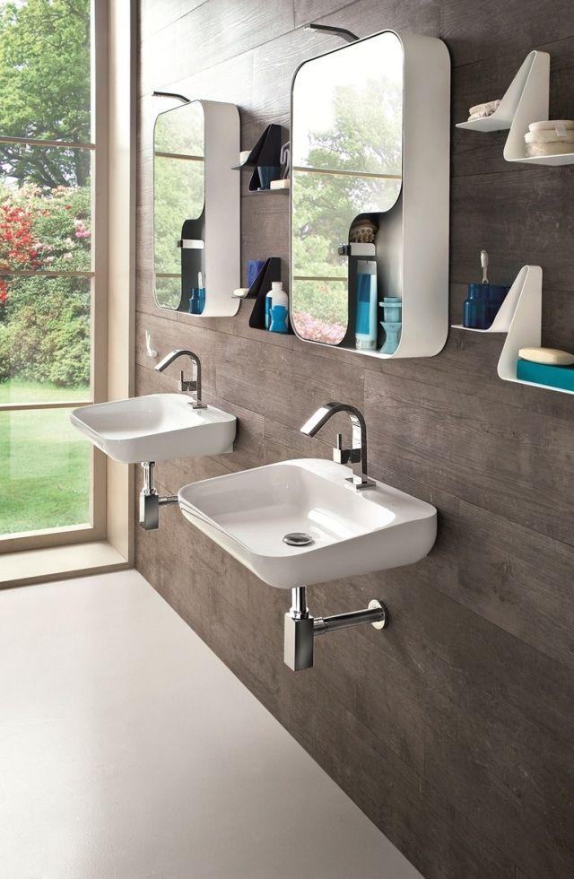 Meubles salle de bains idées magnifiques pour un miroir ...