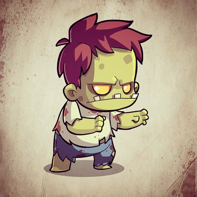 A chibi zombie sprite for a game idea we put on the shelf. I still would love to a game with zombies in it, despite people saying they are over used:P One day! #gamedev #halfbot #photoshop #cintiq