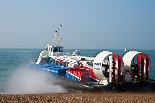 A hovercraft in Isle of Wight, England