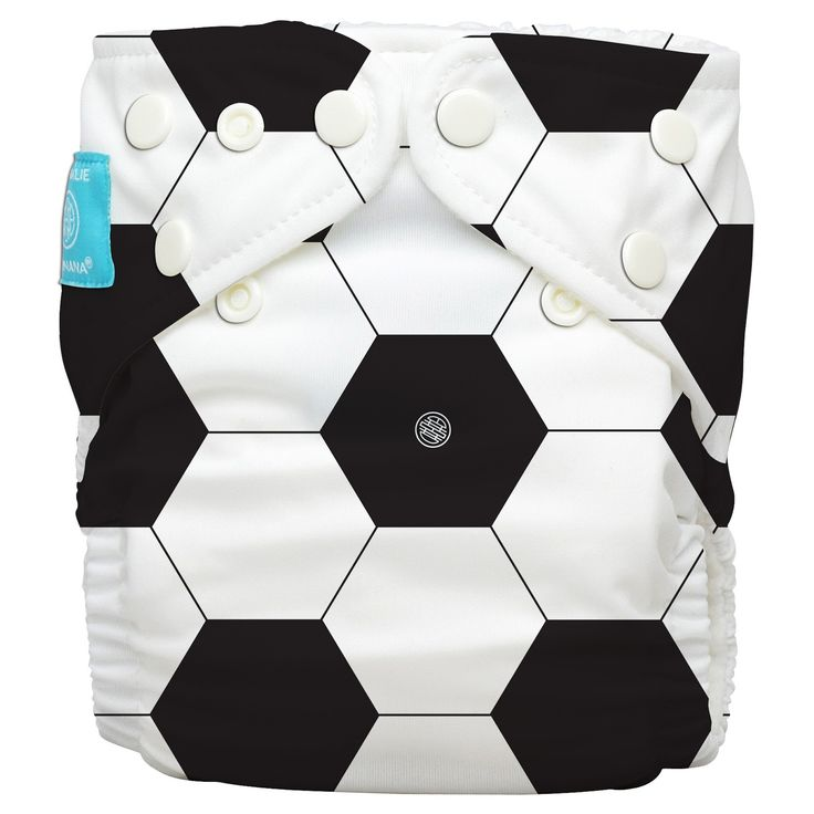 Charlie Banana All-in-One Reusable Diaper 1 pack, One Size - Soccer Fan