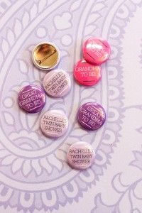 Custom Pinback Buttons for a Baby Shower #gift #custom #party