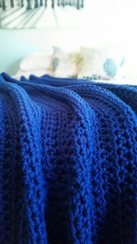 Chunky Crochet Throw Blanket Afghan Color Shown Is A Dark