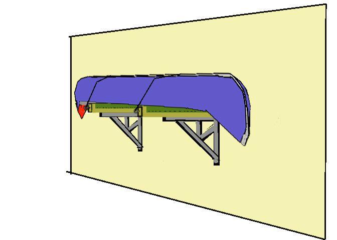 Build Kayak Storage Rack   Howdy Ya Dewit!: Canoe On A Shelf