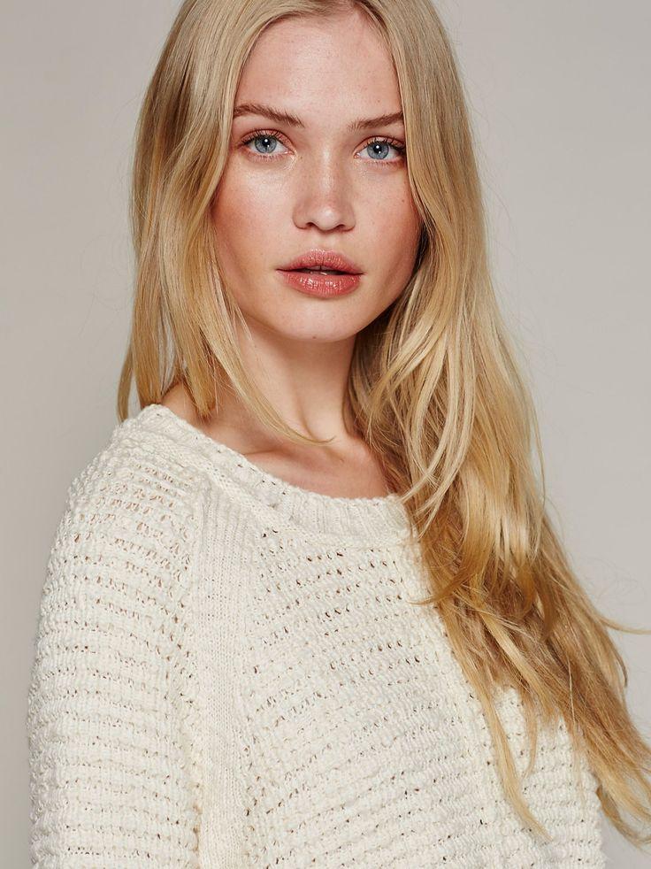 Camilla Christensen || FP Rosita Cropped Knit Sweater (Ivory)