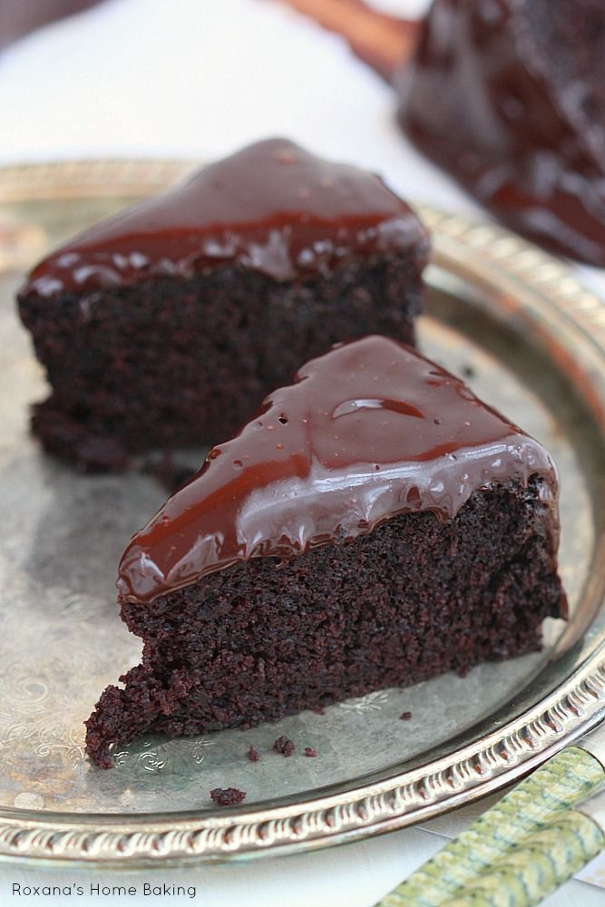 Incredible delicious old-fashion coffee chocolate cake with coffee chocolate ganache made with a secret ingredient that keeps it moist and t...