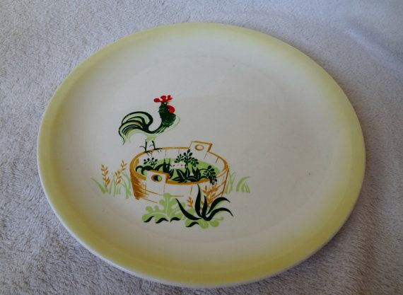 Paden City Pottery Rooster Plate