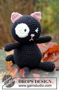 """Crochet DROPS cat in """"Paris"""". ~ DROPS Design"""