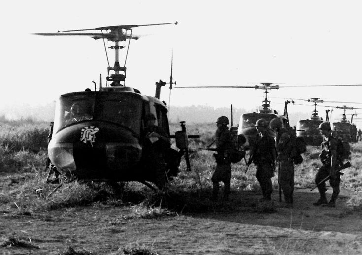 This was December 1969, close to Christmas, early in the morning, the start of a battalion-size operation somewhere in Long Khanh Province. I want to say this is taken at FSB Libby, but I don't know for sure. This was one of 5-6 round trips by these choppers taking the grunts from the FSB to an LZ somewhere.  40th PIO 1969 - 1970