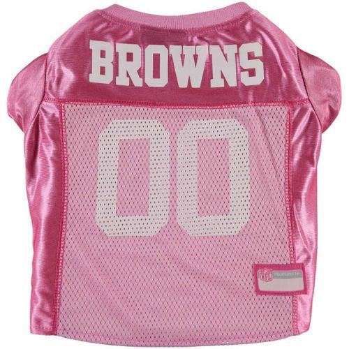 Cleveland Browns Pink Official NFL Jersey Team Pet Wear Shirt XS Brand New #NFLPetWear