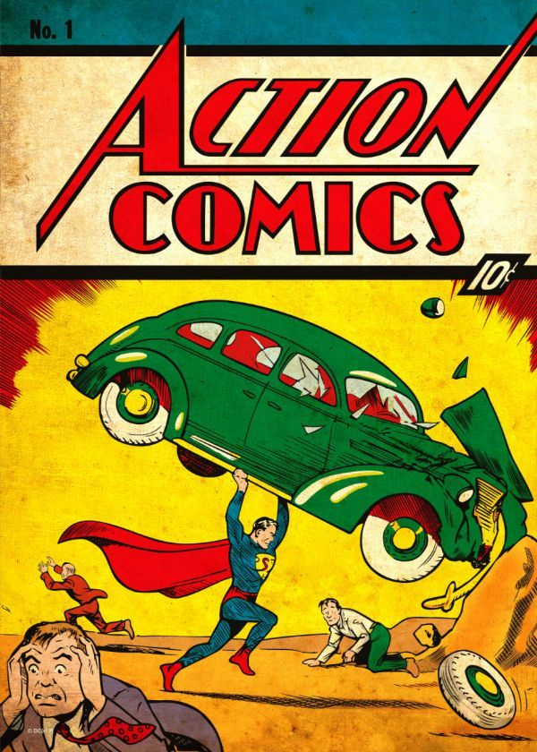 Action Comics Superman By Joe Poster Print By Dc Comics Displate In 2020 Most Expensive Comics Comic Poster Action Comics 1