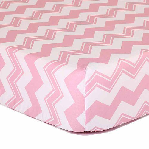 This Peanut Shell Cotton Fitted Crib Sheet is a stylish addition to your baby's nursery. It's made of soft 100% cotton sateen fabric with a contemporary design featuring a pink chevron print. Coordinating items available to create your perfect nursery.<br><br>The Peanut Shell Pink Chevron Cotton Fitted Crib Sheet Features:<br><ul><li>Designed to fit standard size crib mattress</li><br><li>100% Cotton Sateen</li><br>...