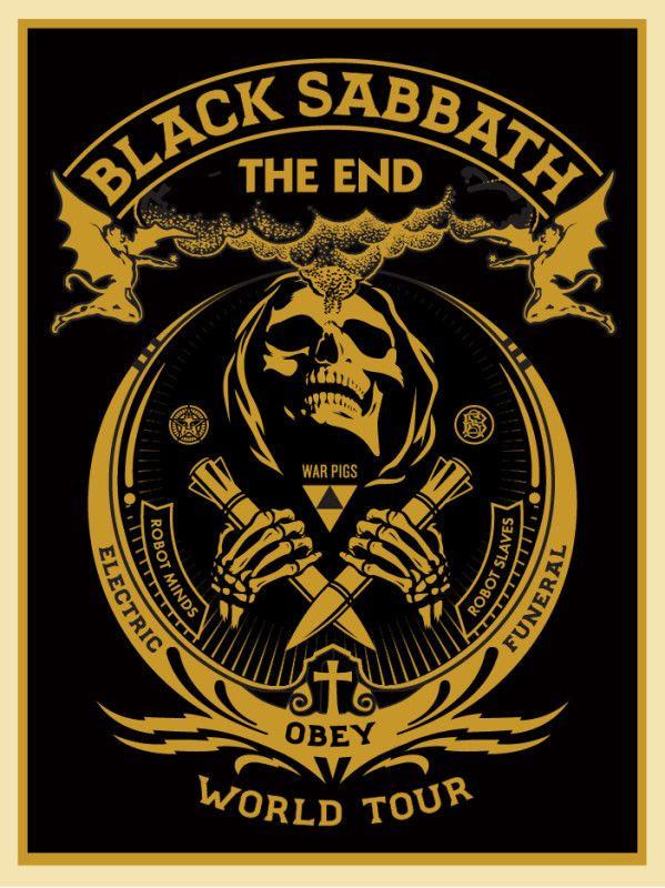Black Sabbath - Shepard Fairey - 2016 ----
