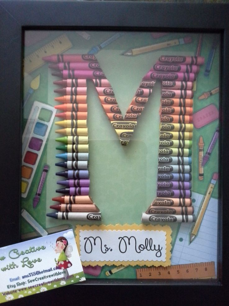 Excellent 57 best Crayon Letter Initial Art - Teacher Gifts images on  TA06