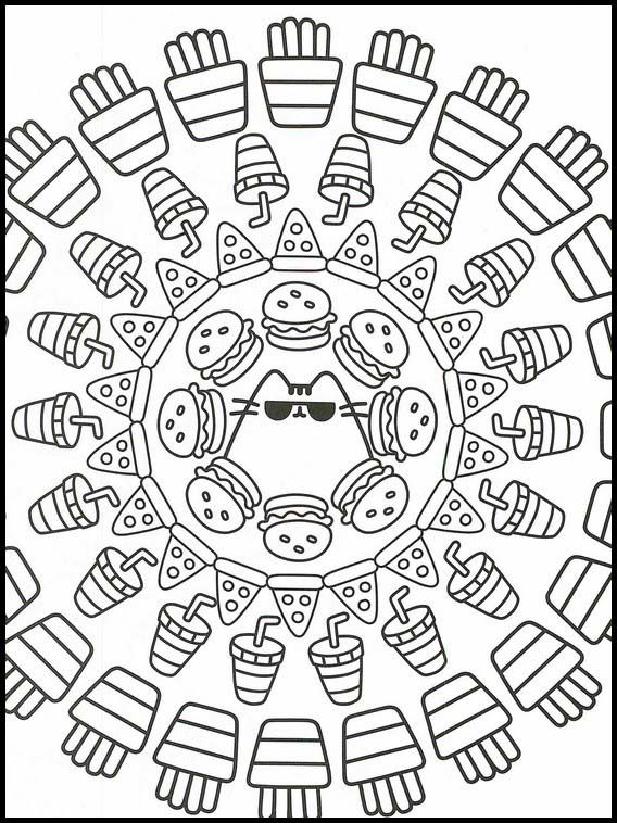 Pusheen 19 Printable Coloring Pages For Kids Pusheen Coloring Pages Online Coloring Pages Coloring Pages