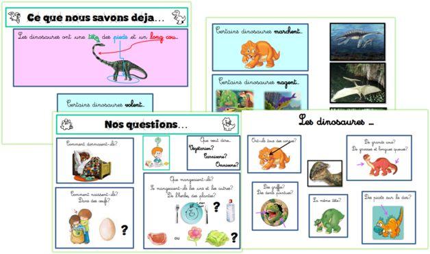 Les dinosaures en maternelle spéciale! De la carte mentale au projet...