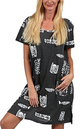 bcb125c7a8 Ingear Beach Summer Shift Dress Short Cotton Tee Dress Cover up ...