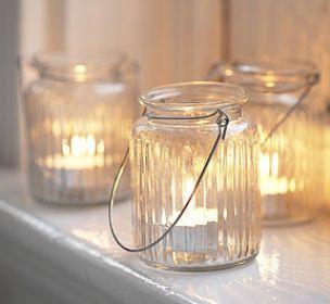 Lampadari e lanterne realizzati con i barattoli del #vetro riciclati... #ricicloeriuso