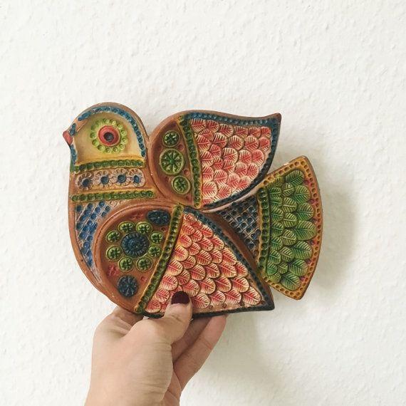 Vintage ceramic Scandinavian soul bird dish by GalabeerandtheDog