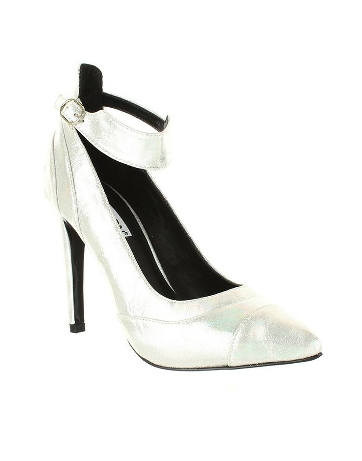 MADISON BLACK | Mishka Pointed Courts in Silver - - Style36