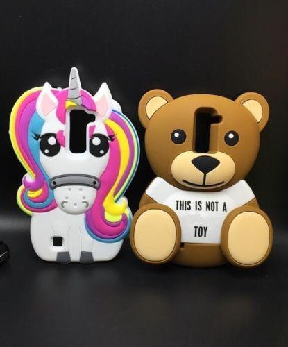 3D-Cartoon-Teddy-Bear-Horse-Unicorn-Silicone-Back-Case-For-LG-K7-Q7-K10-Q10