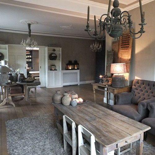 25 beste idee n over landelijke woonkamers op pinterest for Landelijke interieur ideeen