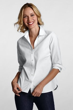 Women's Washed Oxford Shirt.  All you need is a white shirt and jeans. Brilliant.