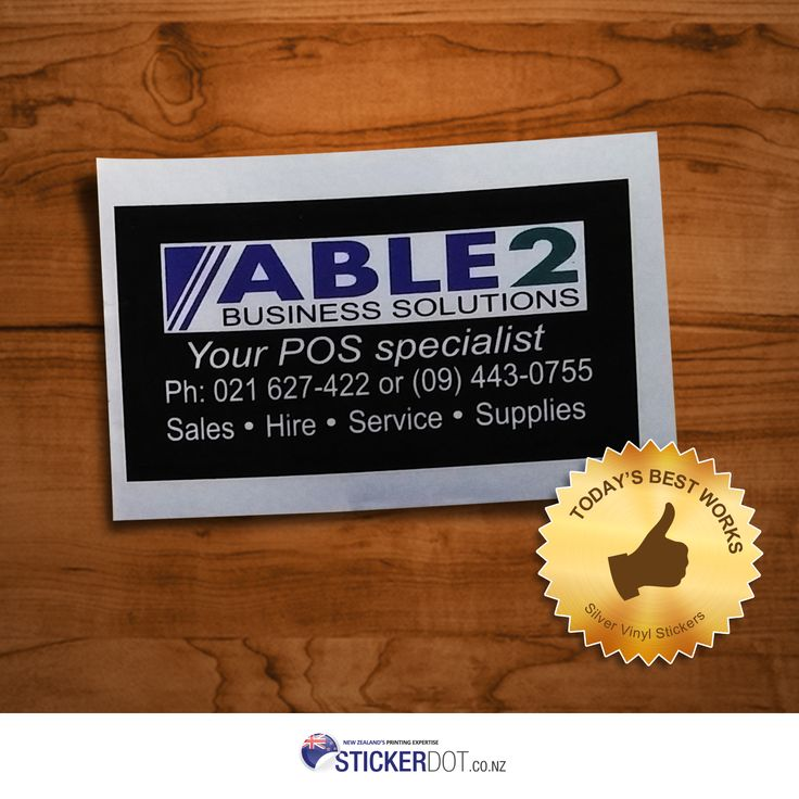 Able 2 Business Solutions Silver Vinyl Stickers | 45x25mm | Rectangle