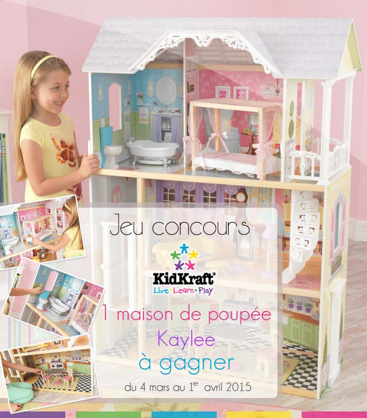 Jeu concours Kidkraft avec Chambre-bebe.com. À gagner une maison de poupée Kaylee d'une valeur de 130 euros !  À vous de jouer : http://chambre-bebe.com/jeu-concours-kidkraft/