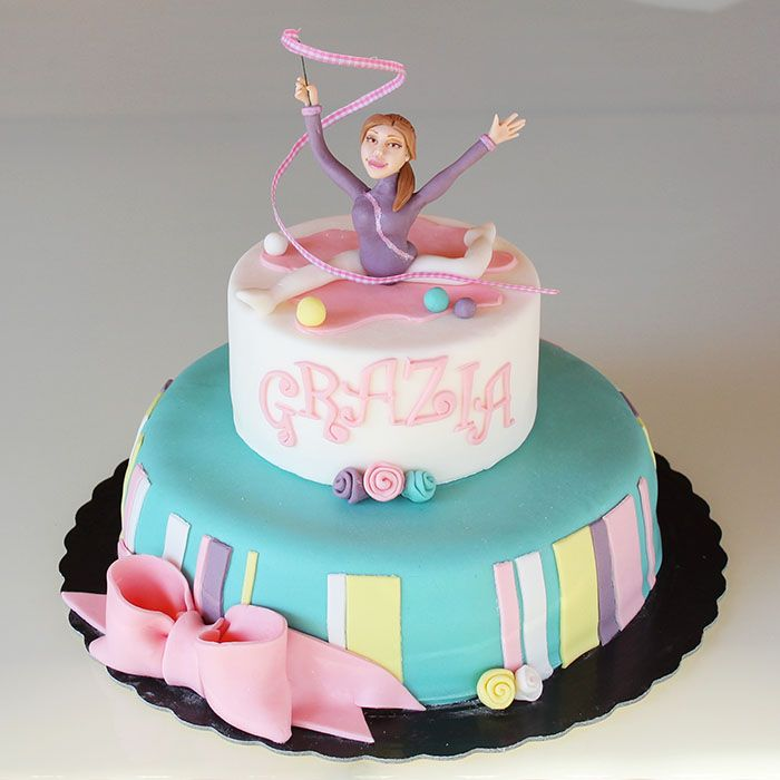 Torta ginnasta... ginnastica artistica  cake design  http://www.marypopcake.it/cakedesign-bimbi/