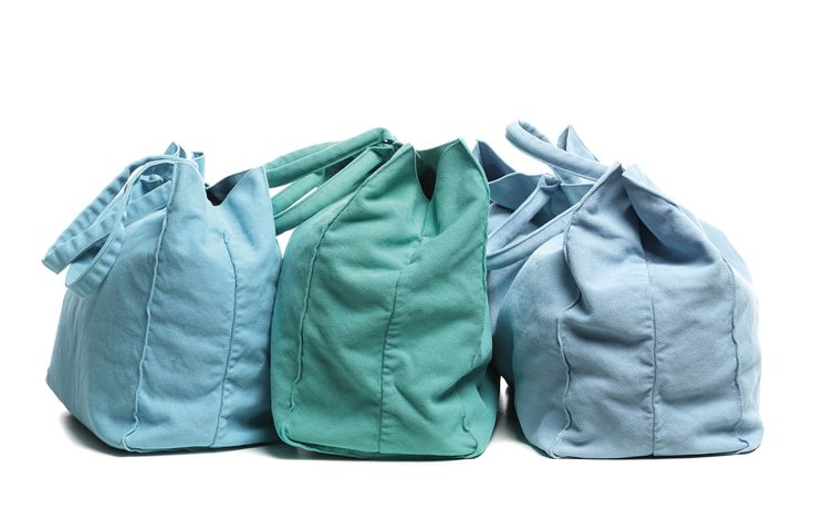 Society Limonta | Drai cotton bags _ blue acquamarina, emerald green and turquoise  www.societylimonta.com