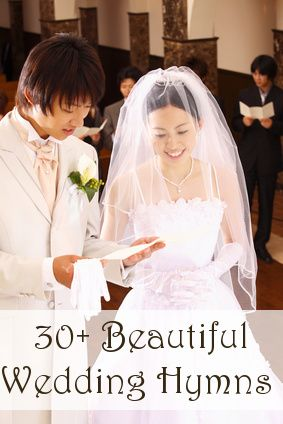 More than 30 beautiful wedding hymns to choose from for your Christian wedding ceremony.
