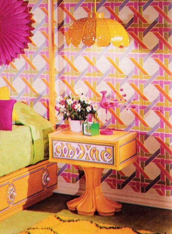 Vintage Mod Decor Seventeen Magazine Mod Decor 70s Home Decor Wallpaper Decor