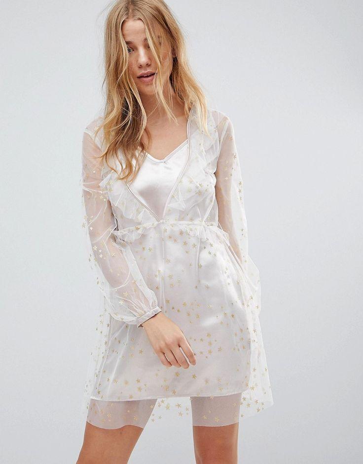Glamorous - Trägerkleid aus Satin mit transparentem Netzstoffoverlay und Metallic-Sternen - Rosa Jetzt bestellen unter: https://mode.ladendirekt.de/damen/bekleidung/kleider/sonstige-kleider/?uid=01adc409-7822-5bbf-b2bd-7ee72755e2cd&utm_source=pinterest&utm_medium=pin&utm_campaign=boards #sonstigekleider #kleider #female #partykleider #bekleidung