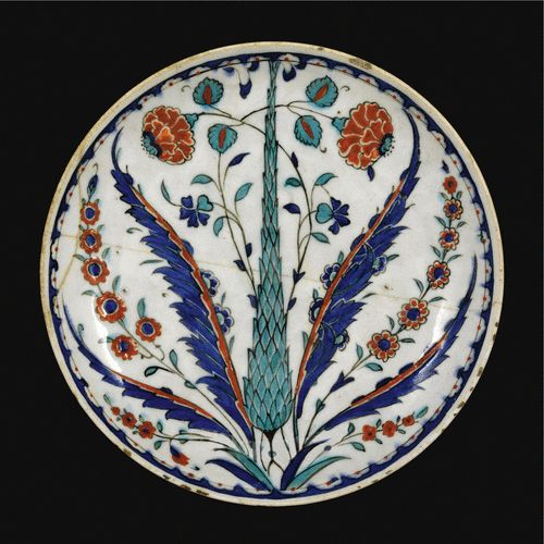 An Iznik polychrome pottery dish, Turkey, <P>circa 1570-1580</P>   Lot   Sotheby's
