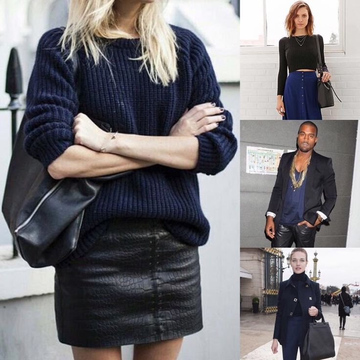 THAD's Sunday Tip: Who said you can't wear black with navy! Black and navy are both neutrals and it's perfectly fine to pair neutrals together. The trick to rock this look....choose a medium navy (rather than a dark navy) to add some contrast.