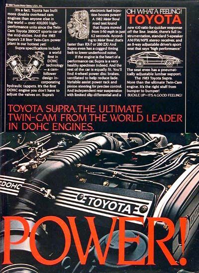 1983 Toyota Supra Ad
