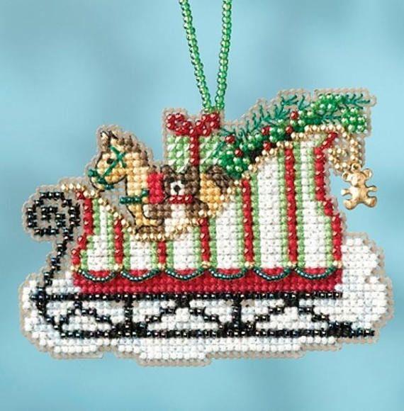 Mill Hill Sleigh Ride Charmed Ornaments Toyland Sleigh