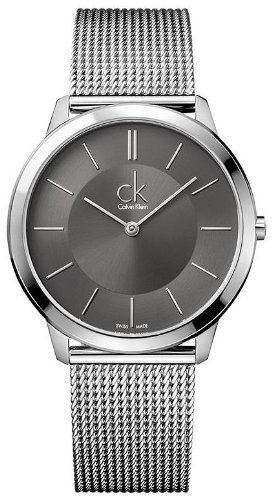 Calvin Klein Minimal Collection Stainless Steel Gray Dial Men's Watch - K3M21124 Calvin Klein. $168.75. Steel Bracelet Strap. Analog Display