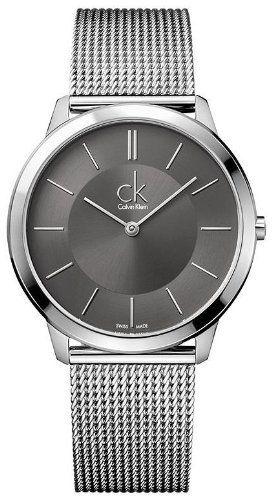Calvin Klein Minimal Collection Stainless Steel Gray Dial Men's Watch - K3M21124 Calvin Klein. $168.75. Steel Bracelet Strap. Analog Display